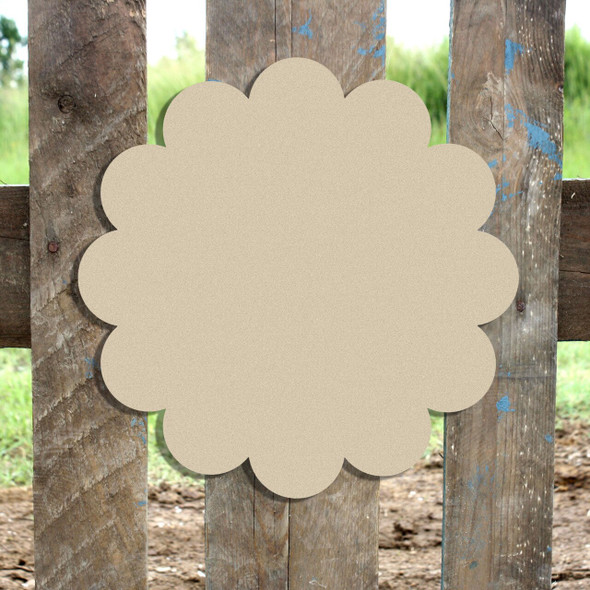 Unfinished Wooden Flower Plaque Paintable Craft Shape