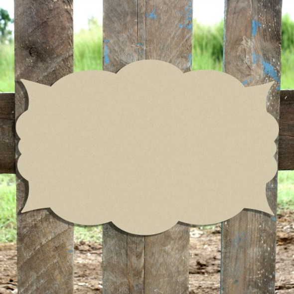 Unfinished Wooden Kristin Plaque Paintable Craft Shape