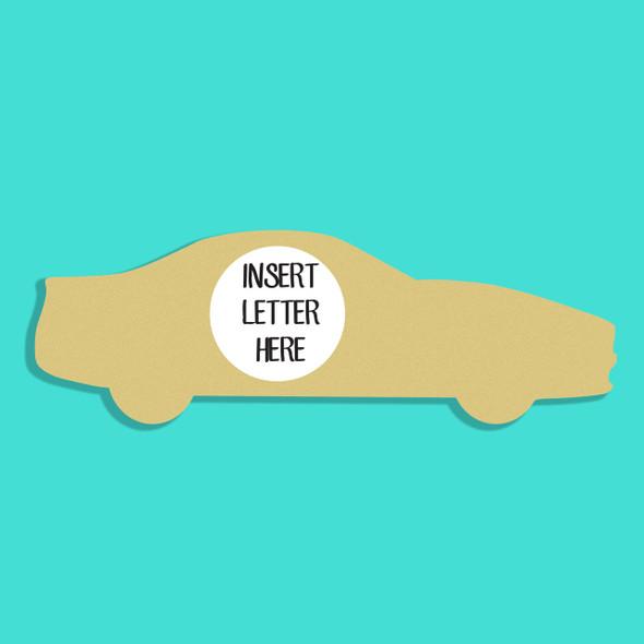 Police Car Frame Letter Insert Wooden Monogram Unfinished DIY Craft
