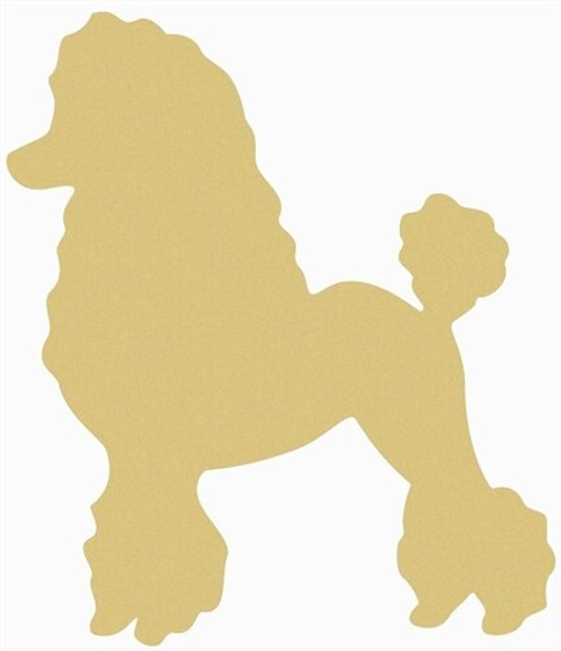 Poodle Unfinished Cutout Paintable Wooden MDF