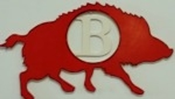 Razorback Frame Letter Insert Wooden Monogram -Unfinished DIY Craft