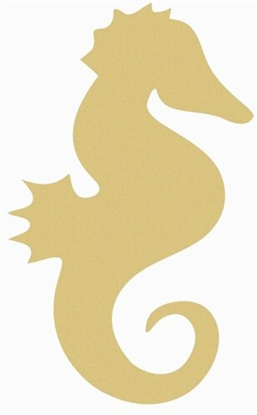 Seahorse Unfinished Wooden Cutout Paintable Wooden MDF