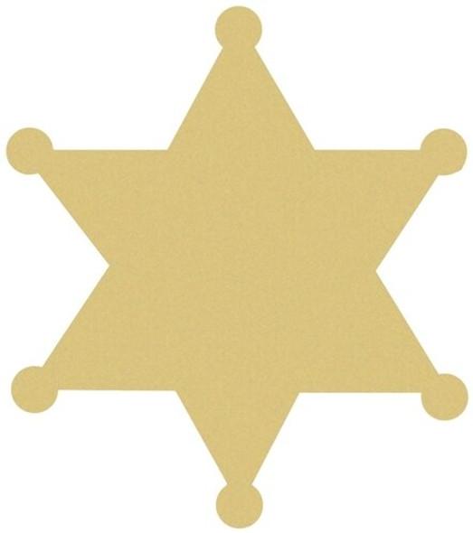 Sheriff Badge Unfinished Cutout