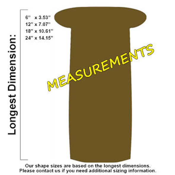 Shotgunshell Unfinished Cutout, Wooden Shape, Paintable Wooden MDF
