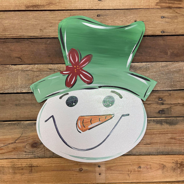 Snowman Head Unfinished Cutout, Wooden Shape, Paintable Wooden MDF