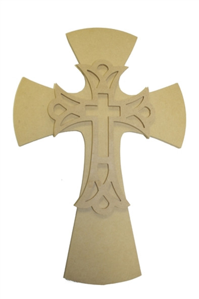 Unfinished Wooden Stacked Kit 5 Layered Crosses 16'' Sets Paintable Craft