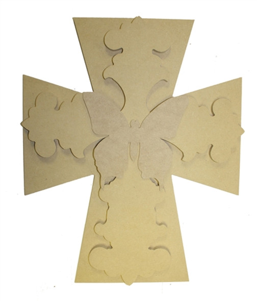 Unfinished Wooden Stacked Kit 8 Layered Crosses 16'' Sets Paintable Craft
