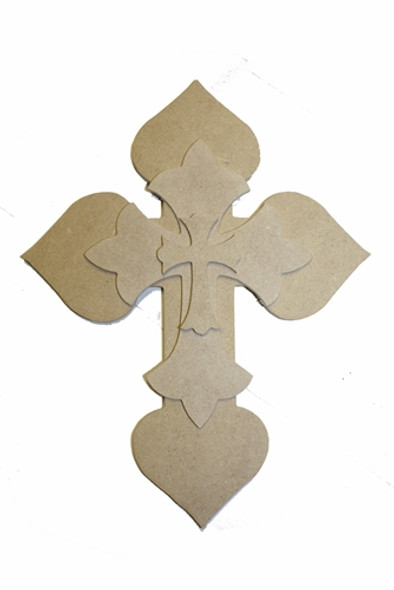 Unfinished Wooden Stacked Kit 7 Layered Crosses 9.5'' Sets Paintable