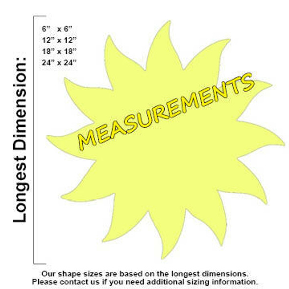 Sun Unfinished Cutout measurements