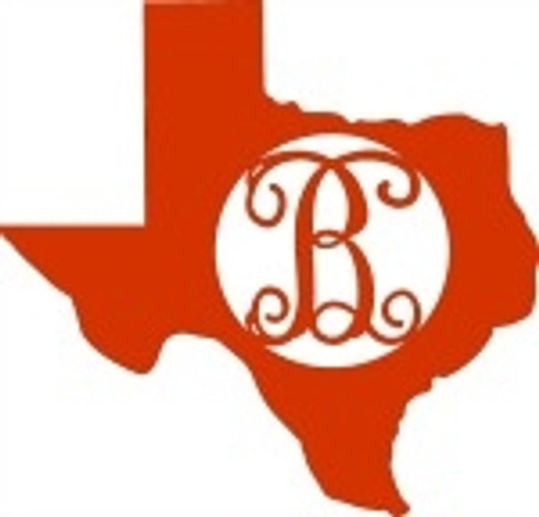 Texas Monogram Frame Letter, Texas Frame Wooden - Unfinished  DIY Craft