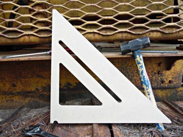 Trianlge Level Unfinished Cutout, Wooden Shape, MDF DIY Craft