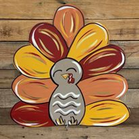 Turkey Unfinished Cutout, Wooden Shape, Paintable Wooden MDF DIY Craft
