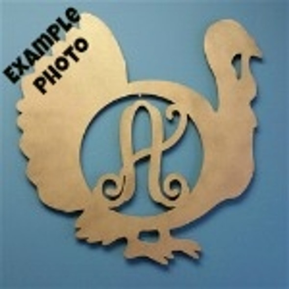 Monogram Letter, Turkey Frame Wooden - Unfinished  DIY Craft