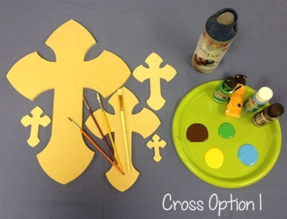 Cross 1 Unfinished Wooden Paintable Wall Hanging Stackable