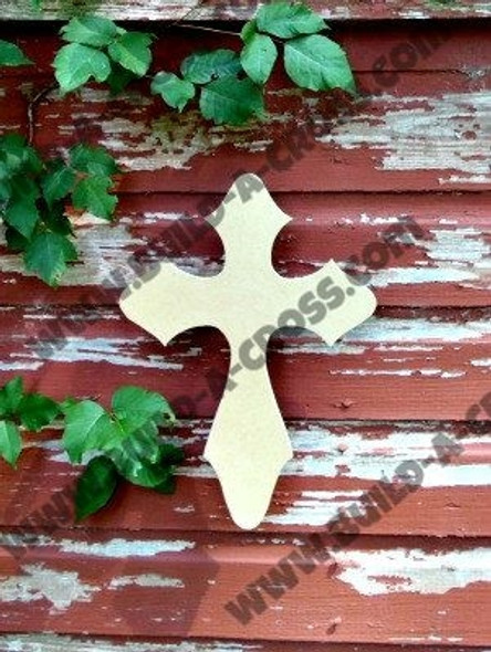 Cross 11 Unfinished Wooden Paint-able Wall Hanging Stackable