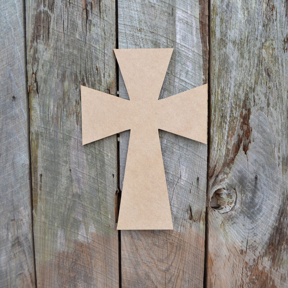 Cross 13 Unfinished Wooden Paintable Wall Hanging Stackable
