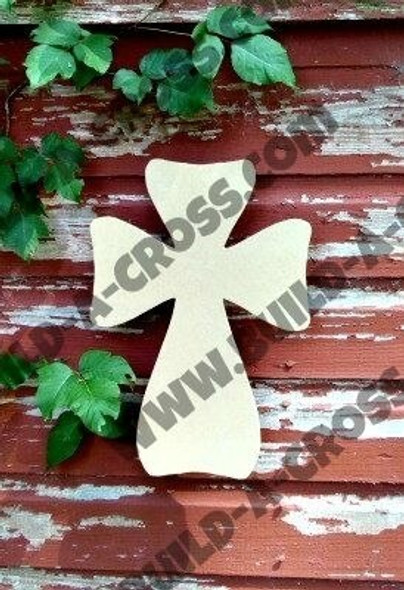 Cross 25 Unfinished Wooden Paintable Wall build-a-cross