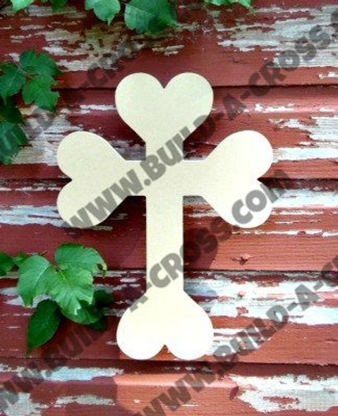 Cross 29 Unfinished Wooden Paint-able Wall Hanging Stackable