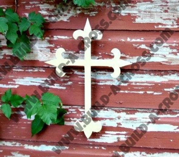 Cross 3 Unfinished Wooden Paintable Wall Hanging Stackable