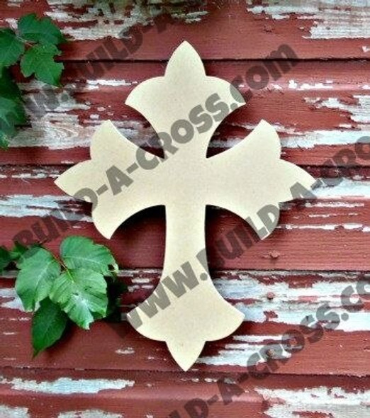 Cross 33B Unfinished Wooden Paintable-build-a-cross