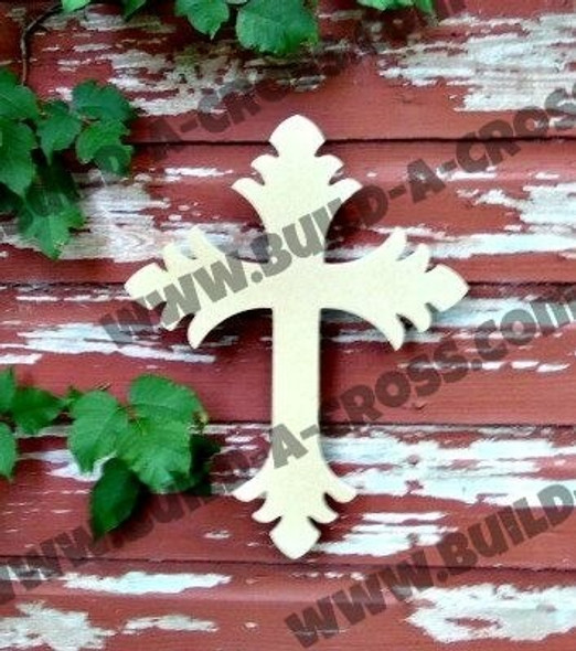 Cross 35 Unfinished Wooden Paintable build-a-cross