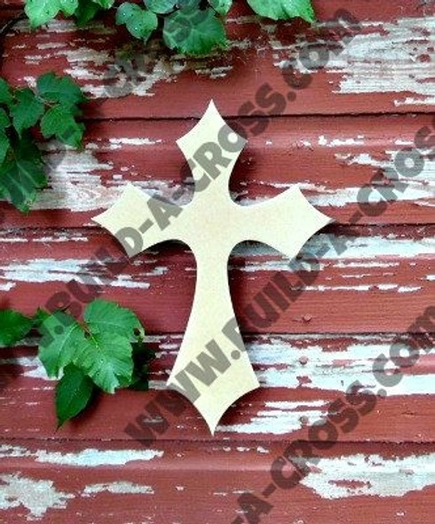 UNFINISHED WOODEN CROSS PAINTABLE WALL HANGING STACKABLE CROSS (39)
