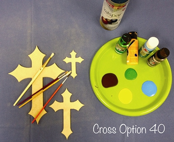 UNFINISHED WOODEN CROSS PAINTABLE WALL HANGING STACKABLE CROSS (40)