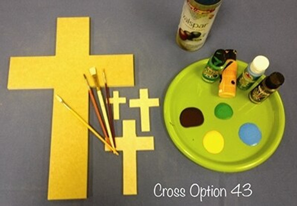 PAINTABLE WALL HANGING STACKABLE CROSS