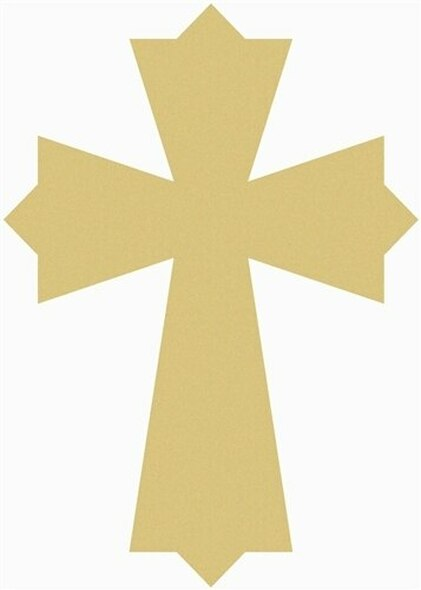 UNFINISHED WOODEN CROSS PAINTABLE