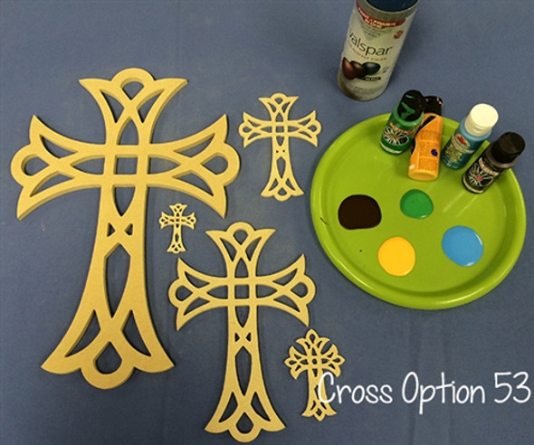UNFINISHED WOODEN CROSS PAINTABLE WALL HANGING STACKABLE CROSS (53)