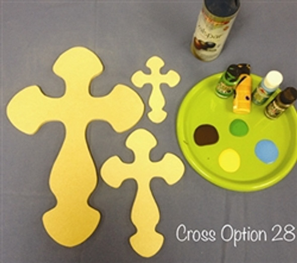 Cross 28 Unfinished Wooden Paint-able Wall Hanging Stackable