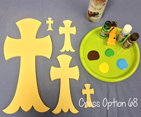 Unfinished Wooden Cross Paint-able Wall Hanging Stackable Cross 68