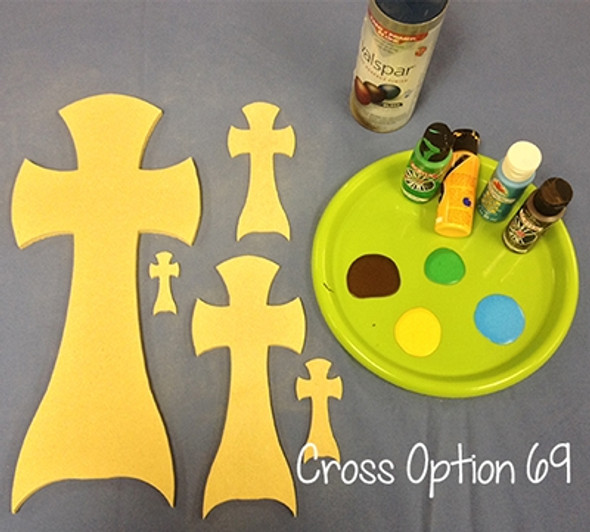Unfinished Wooden Cross Paintable Wall Hanging Stackable Cross 59