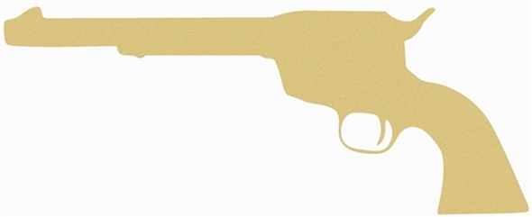 Gun Unfinished Cutout, Wooden Shape, Paintable Wooden MDF