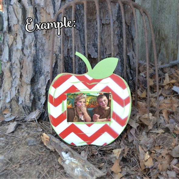 Unfinished Picture Frames Paintable Cutout Shape apple