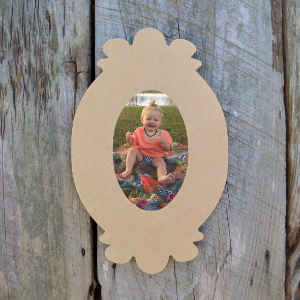 Wooden Unfinished Picture Frame Paintable Wood Frames