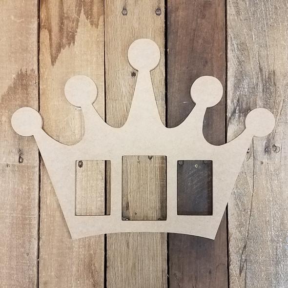 Picture Unfinished Frames Paintable Cutout Shape Crown