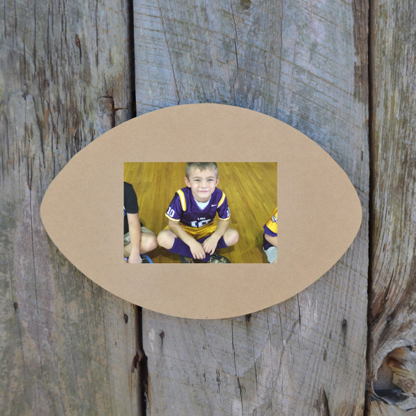 Unfinished Picture Frames Paint-able Cutout Shape football