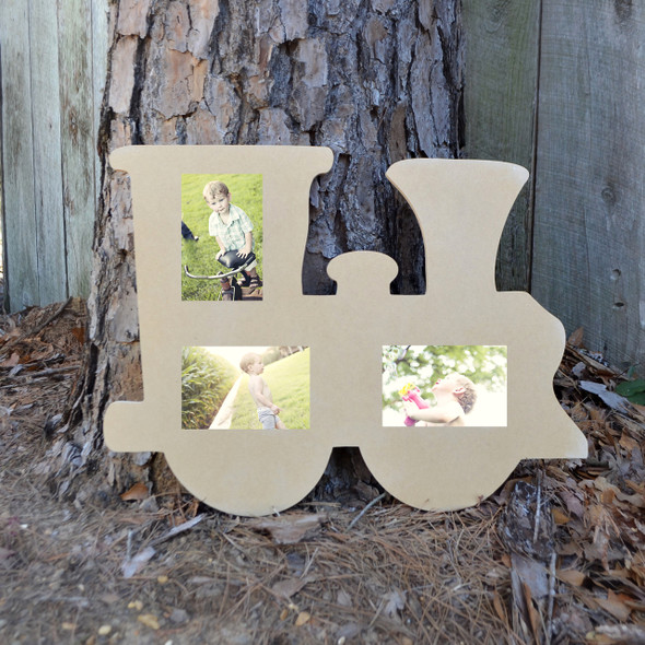 Picture Unfinished Frames Paintable Cutout Shape Train