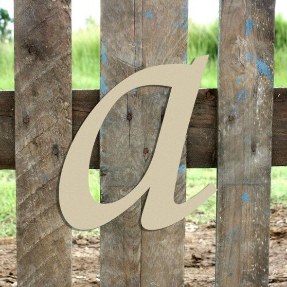 Wooden Lowercase Unfinished Letter Wall Art-a