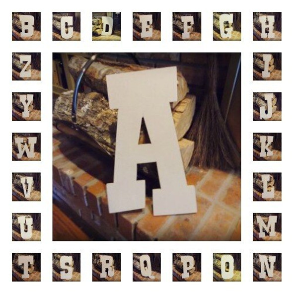 Unfinished MDF Wood Letters Alphabet