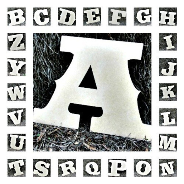 Unfinished Wooden Alphabet Letter Wall Decor