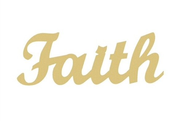 Unfinished Wooden Connected Word-Faith