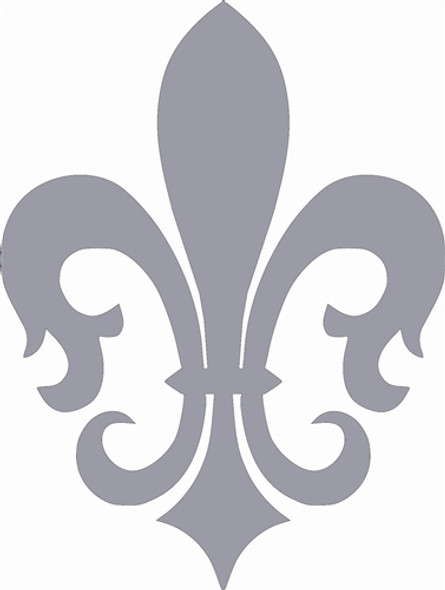 Victorian Fleur De Lis Unfinished Cutout, Wooden Shape, Paintable Wood