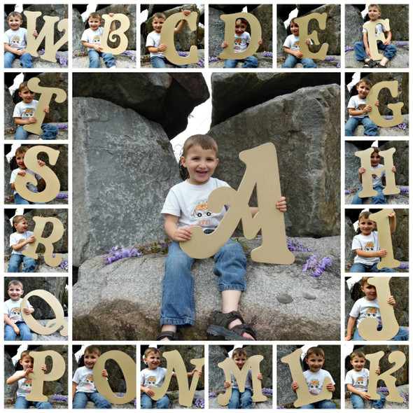 Unfinished DIY Letter Decor Wooden Alphabet