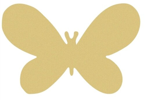 Wide Butterfly Unfinished Cutout