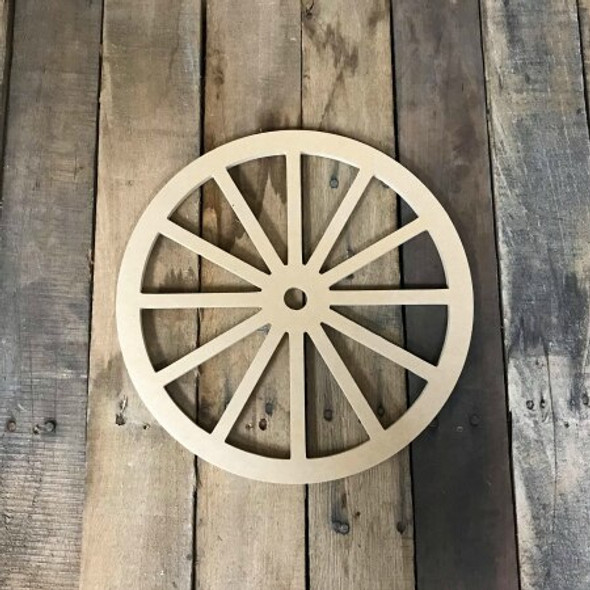 Unfinished Cutout Paintable Wooden Wagon Wheels