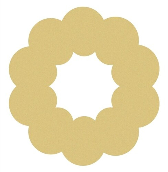 Christmas Wreath Unfinished Cutout Paintable Wooden