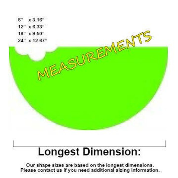 Watermelon Unfinished Cutout measurements