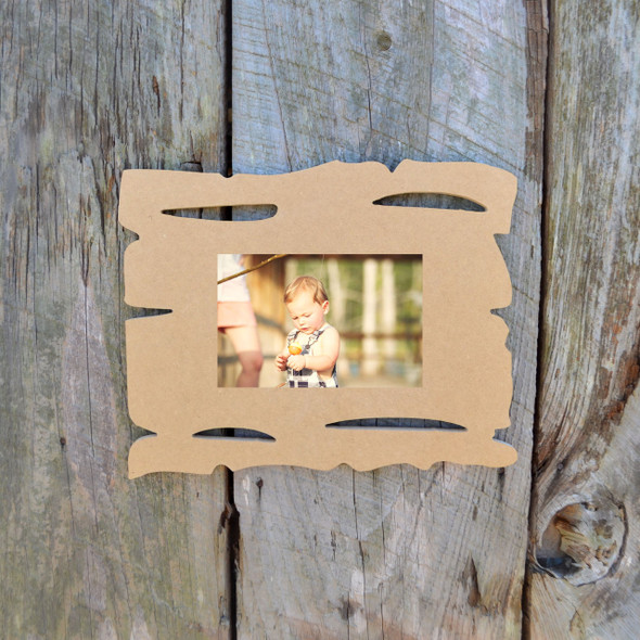 Unfinished Picture Frame Wooden Paintable Wood Grain DIY